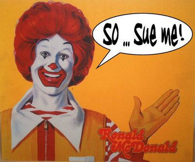 Ronald McDonald Saying Sue Me - McDonald's Franchise News - Franchise Help