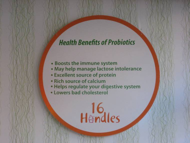 16 Handles Franchise - 16 Handles Probiotics Sign - Franchise Help