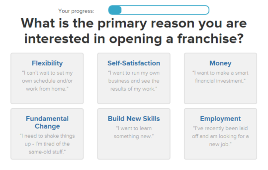 FranchiseHelp Matching Quiz Question About Motivation