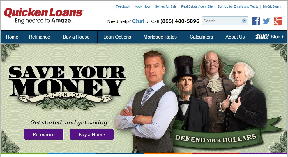 Quicken Loans Homepage