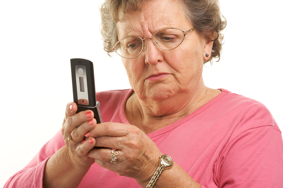 Older person confused by texting