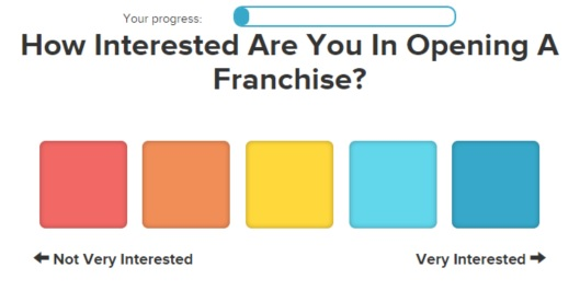 FranchiseHelp Franchise Matching Quiz Level of Interest Slide