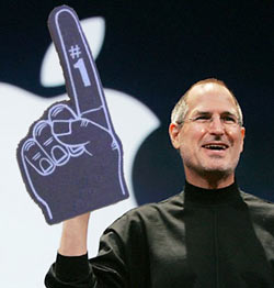 Steve Jobs with Foam Number 1 - How to go from employee to entrepreneur - Franchise Help