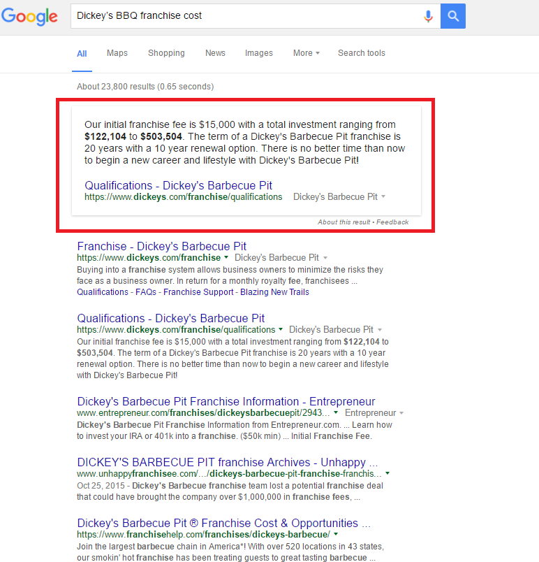 Franchise Knowledge Graph Example