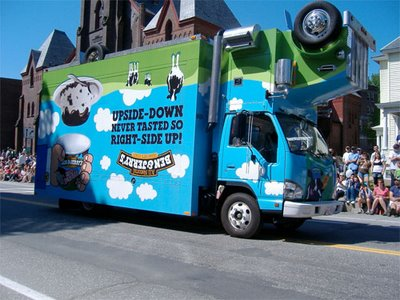 Ben & Jerrys Ice Cream Franchise Truck in Los Angeles