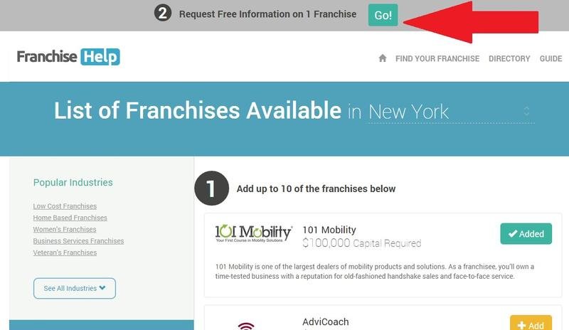 FranchiseHelp Category Page Example Jumper